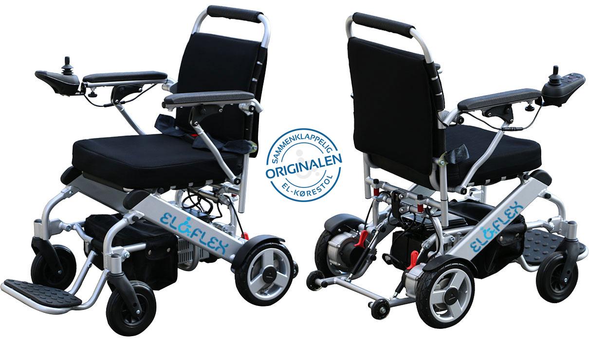 Eloflex er en sammenklappelig letvægt el-kørestol som du nemt kan tage med dig i bilen eller når du skal på rejse