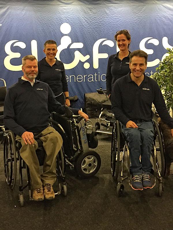 Eloflex er en elkørestol med helt unikke egenskaber så som let, smart, kompakt og sammenklappelig